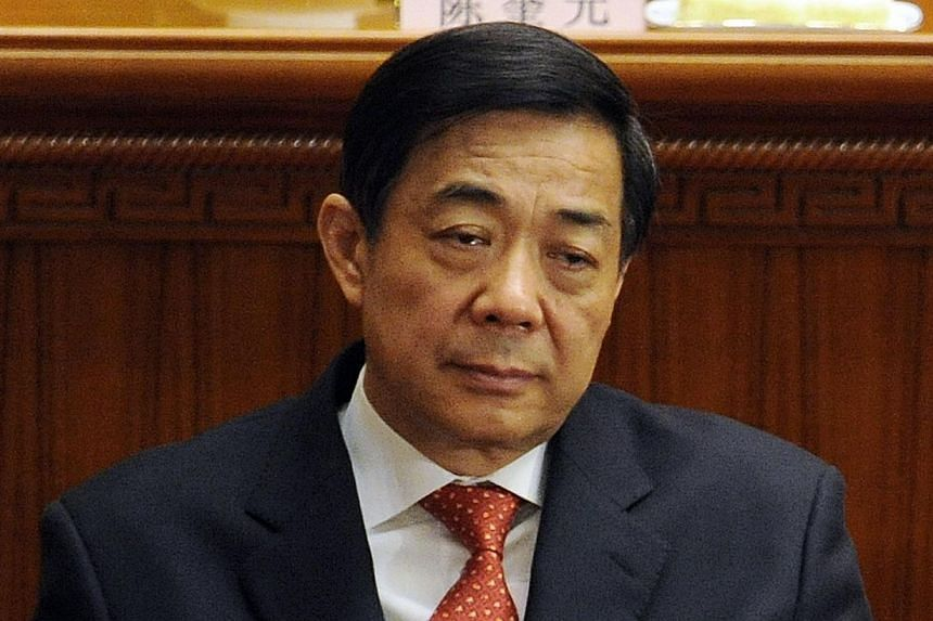 Chongqing Party Secretary Bo Xilai during the closing ceremony of the National People's Congress at the Great Hall of the People in Beijing on March 14, 2012. Fallen Chinese political star Bo Xilai will learn his fate Sunday when a court delivers its