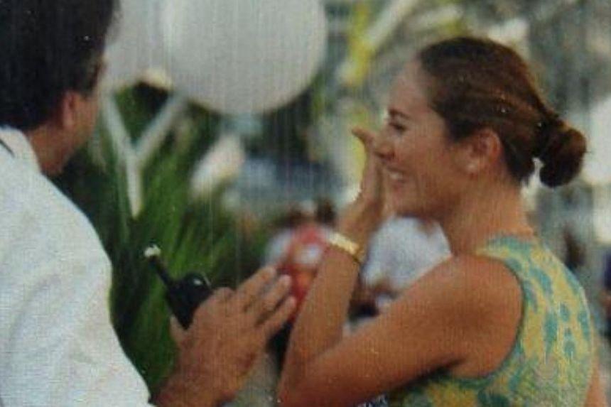 McLaren driver Jenson Button's supermodel girlfriend Jessica Michibata. -- ST PHOTO