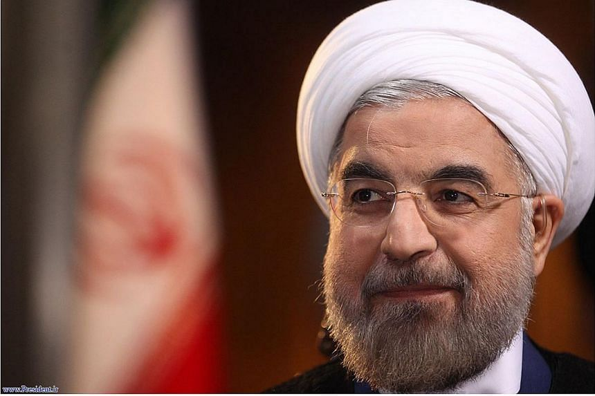 Iranian President Hassan Rouhani is pictured during an interview with Ann Curry from the US television network NBC in Teheran, in this picture taken Sept 18, 2013, and provided by the Iranian Presidency. President Hassan Rouhani said on Sunday that W