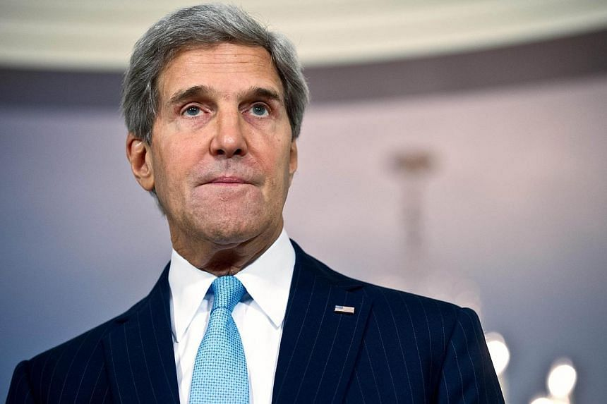 US Secretary of State John Kerry speaks to the press with Dutch Foreign Minister Frans Timmermans prior to talks with at the State Department in Washington,DC on Sept 20, 2013.US Secretary of State John Kerry said on Sunday that the deadly mall