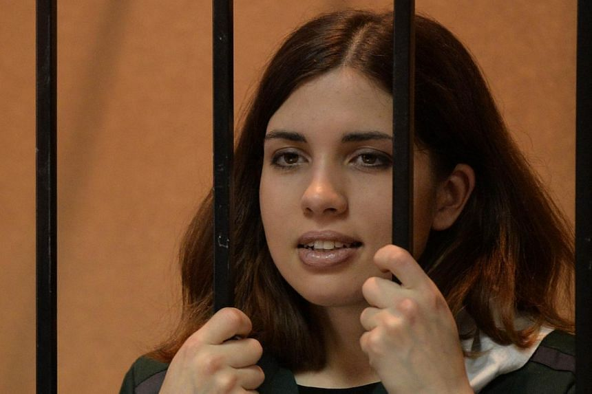 Nadezhda Tolokonnikova declared a hunger strike to protest at death threats and what she described as conditions of slave labour at her Russian prison camp on Monday, Sept 23, 2013. -- FILE PHOTO: AFP