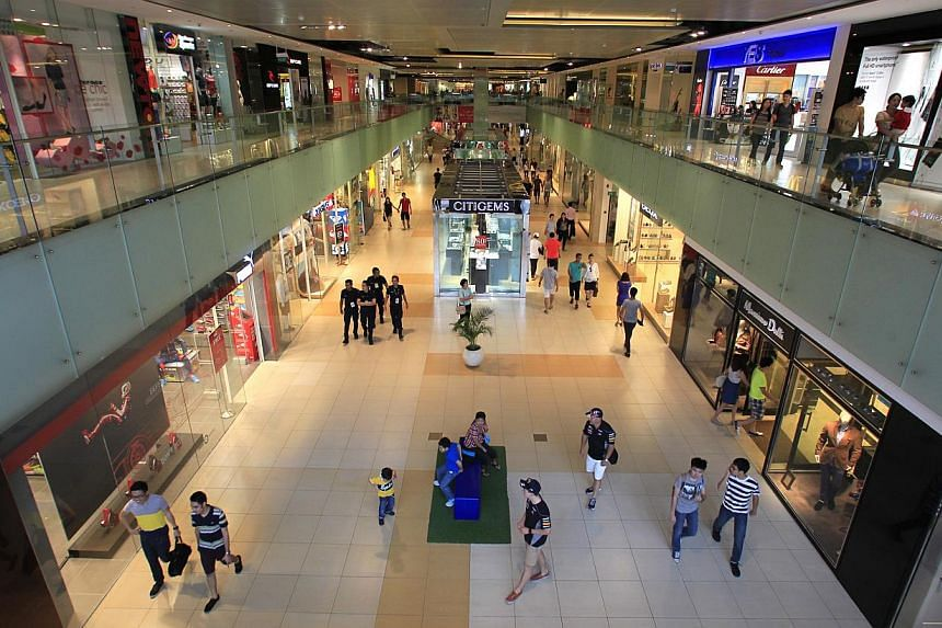 Not many shoppers visited Marina Square yesterday, in line with a trend over the years of people giving the Marina Bay area a wide berth during the F1 week because  of road closures.