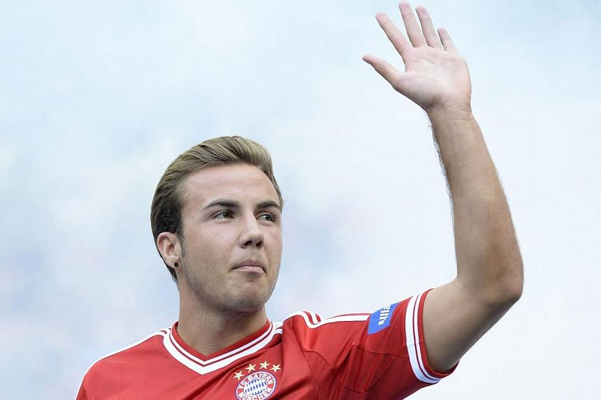 Bayern Munich's Mario Goetze could be included in the Treble winners' squad for their German Cup second round game against Hanover 96 on Wednesday, Sept 25, 2013, coach Pep Guardiola said on Tuesday, Sept 24, 2013. -- FILE PHOTO: AFP