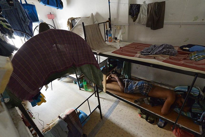 Many foreign workers who are injured or in disputes with their bosses decide to live on their own, often in crowded conditions in shophouses in Little India.