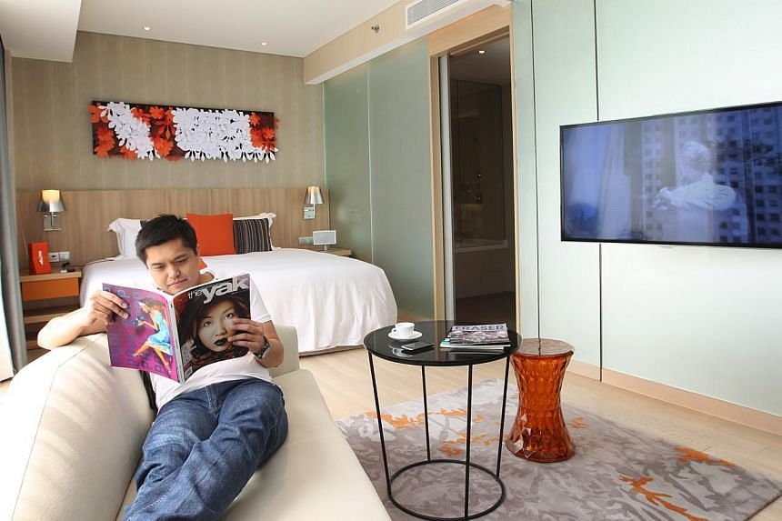 Serviced apartment developments with hotel licences in Singapore include Frasers Hospitality's Capri in Changi (above) and the Pan Pacific Serviced Suites Beach Road. -- PHOTOS: ST FILE AND PAN PACIFIC HOTELS