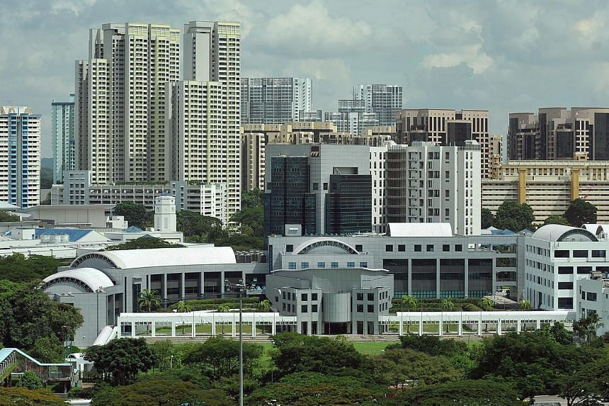 The Singapore University of Technology and Design (SUTD) (foreground) is seen on Nov 28, 2011.From next year, second-year students at the SUTD will be able to take courses on game development, which will be offered under the Information Systems