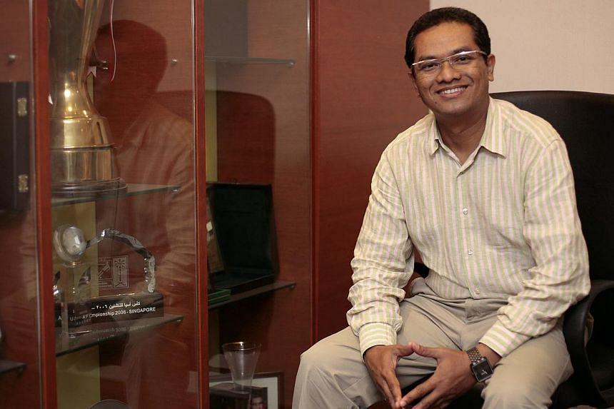 Zainudin Nordin will remain as Football Association of Singapore (FAS) president until 2015 at the FAS' annual general meeting at Jalan Besar Stadium. -- ST FILE PHOTO: JASON QUAH