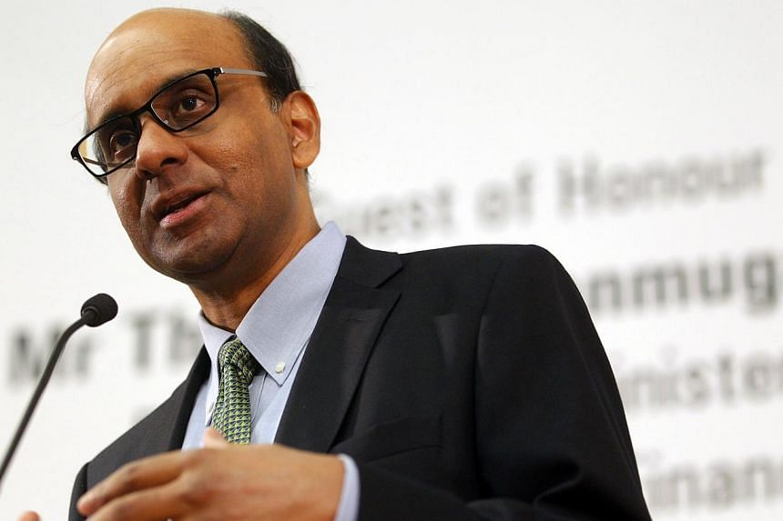 There are four major uncertainties facing global economies today, said Deputy Prime Minister Tharman Shanmugaratnam on Wednesday morning at the Skybridge Alternatives Conference at Marina Bay Sands on Sept 25, 2013. -- ST FILE PHOTO: TED CH
