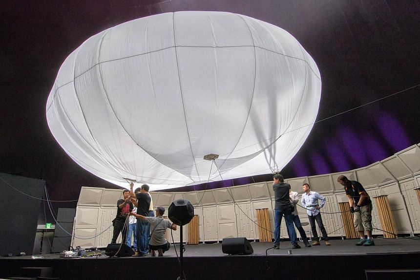 This handout picture taken by Lucerne Festival Arknova 2013 on Tuesday, Sept 24, 2013, shows the world's first inflatable concert hall in the disaster-hit north-eastern coast town of Matsushima in Miyagi prefecture. -- PHOTO:AFP / LUCERNE FESTI