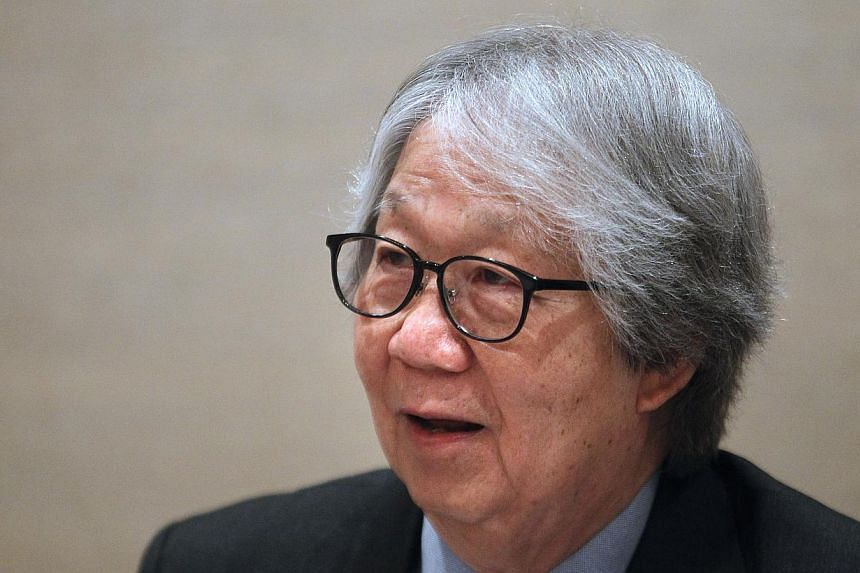Singapore's ambassador-at-large Professor Tommy Koh has been awarded the 2014 Great Negotiator Award. -- FILE PHOTO: KEVIN LIM