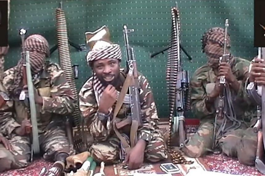 A screengrab taken on Sept 25, 2013 from a video distributed through an intermediary to local reporters and seen by AFP, shows a man claiming to be the leader of Nigerian Islamist extremist group Boko Haram Abubakar Shekau. A man claiming to be the l