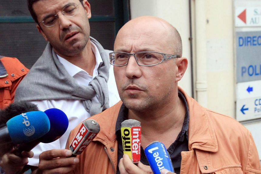 Mr Xavier Capelet, lawyer of Berkane Maklouf, the stepfather of Fiona, a five-year old girl who disappeared last May 12, speaks to the press in front of the police headquarters in Perpignan on Sept 26, 2013. Interpol has issued an arrest notice for S