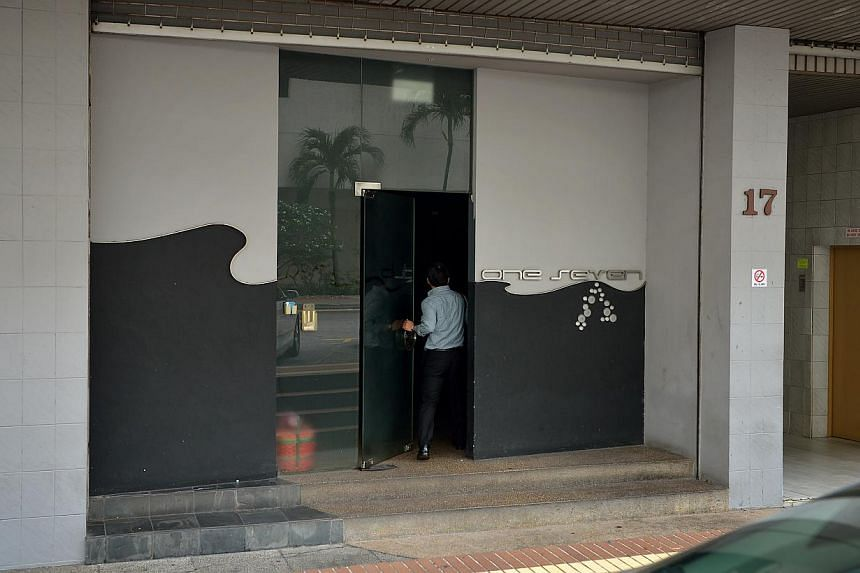 Club One Seven Spa and Gym in Upper Circular Road, where Mr Yeo was found dead in a cubicle, is strictly for men only. -- ST PHOTO: KUA CHEE SIONG