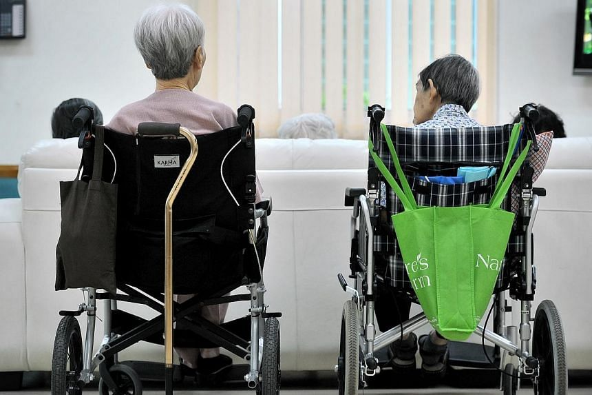 Patients with severe dementia at a day-care centre.Closer collaboration between the health and social sectors needs to be forged, to support mentally ill patients and their families, Minister for State for Health Dr Amy Khor said on Friday. --