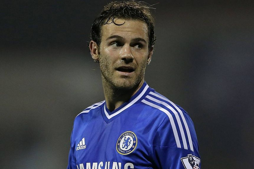 Chelsea's Juan Mata reacts during their game against Swindon Town in their English League Cup soccer match at the County Ground in Swindon, western England, on Sept 24, 2013. Spurs boss Andre Villas-Boas on Sept 26 said Chelsea's decision to block To