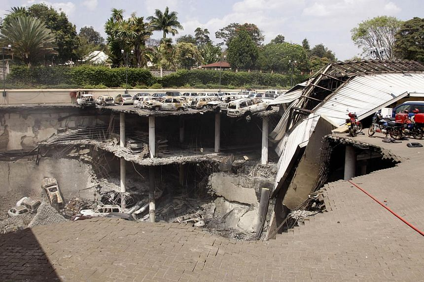A handout picture released by the Kenyan presidency shows a destroyed section of the Westgate mall in Nairobi on Thursday, Sept 26, 2013.Kenya's government had been warned, including by Israel, of the high risk of an attack before the assault o