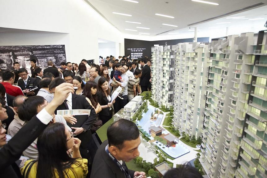 Brisk buying marked the first day of bookings at UOL Group's 445-unit Thomson Three last week. -- PHOTO: UOL GROUP