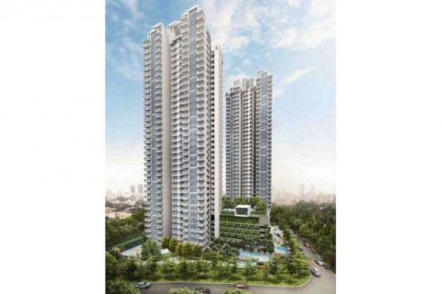 An artist's impression of the Sky Vue condominium. Sales for CapitaLand's Sky Vue condominium in Bishan got off to a rocking start with 410 of the 505 units released for sale on Saturday sold by 7pm. -- PHOTO: CAPITALAND