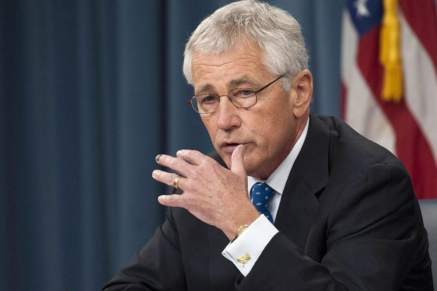 US Secretary of Defence Chuck Hagel at a press briefing in the Pentagon, on September 18, 2013 in Arlington, Virginia. -- FILE PHOTO: AFP