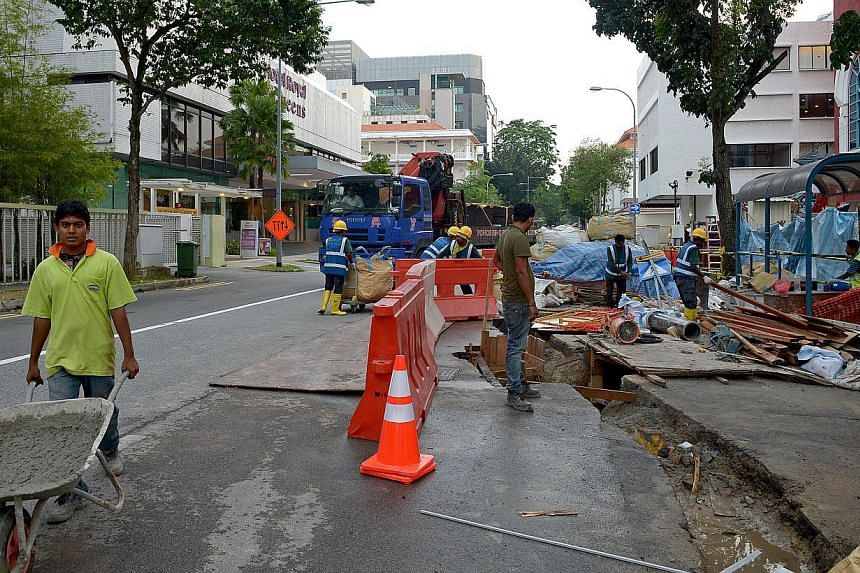 Queen Street, where road enhancement works started earlier this year, could also be part of a plan to partially close Waterloo Street. A portion of Waterloo Street near the Sri Krishnan temple (above) is already a no-car zone. The street is also flan