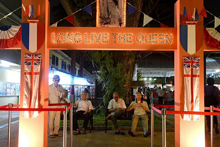 The archway in Tanglin Halt which was put up for Queenstown's 60th anniversary celebrations. Some have said the arch smacks of a 'colonial hangover' but organisers say it is a re-creation of a larger one erected in 1953 in North Bridge Road to cele