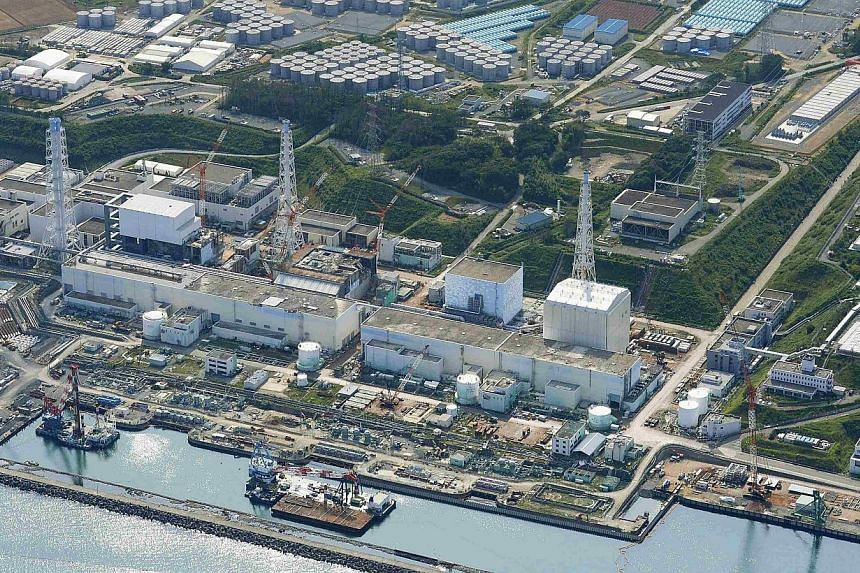 An aerial view of the Tokyo Electric Power Co's (Tepco) Fukushima Daiichi nuclear power plant taken by Kyodo Aug 31, 2013. A piece of plastic padding which clogged up a drain is thought to have caused the breakdown of a decontamination system at Japa