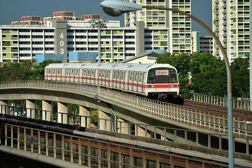 Train services on the North-South Line was delayed on Sunday morning after a southbound train had an electrical failure. -- ST FILE PHOTO: KUA CHEE SIONG