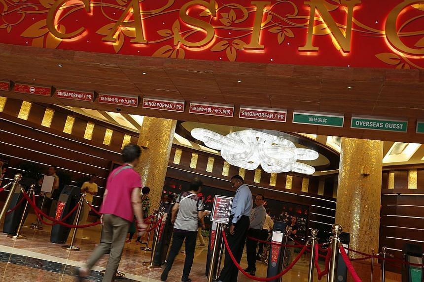 From Tuesday, all public servants will have to declare their visits to local casinos if they go more than four times a month, or if they purchase an annual pass. -- ST FILE PHOTO: JASON QUAH