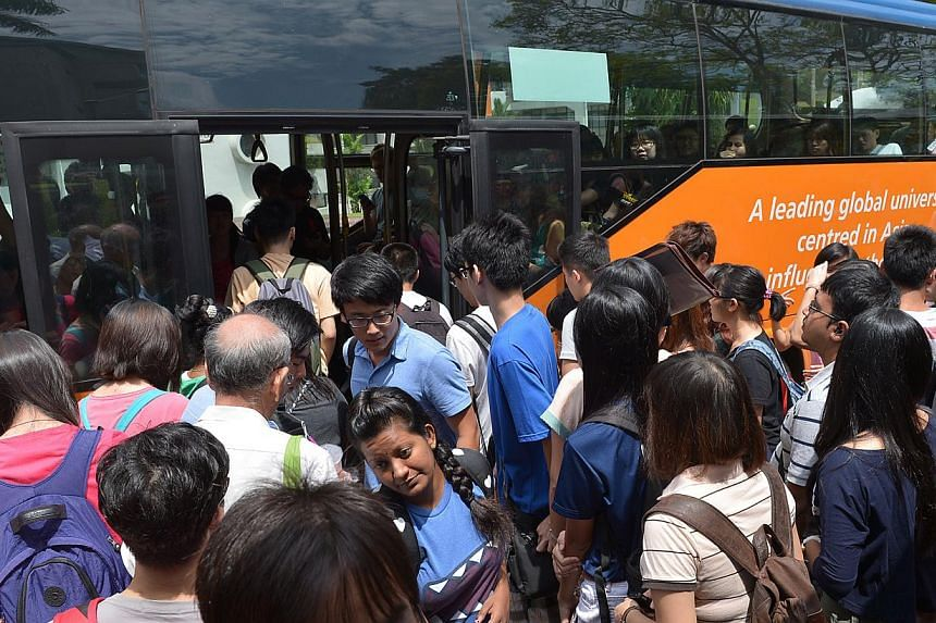 "The current shuttle bus service at NUS can get overcrowded during peak periods. A spokesman said it is at the preliminary stage of exploring ""viable long-term alternative solutions to improve mobility on campus""."
