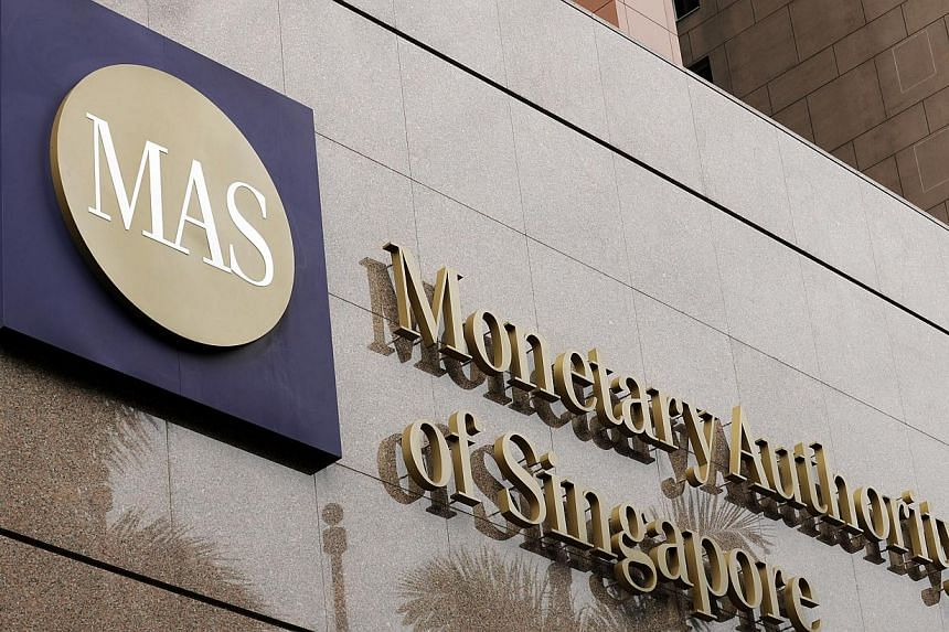 The logo of the Monetary Authority of Singapore (MAS) is displayed at the MAS headquarters in Singapore, on Thursday, July 29, 2010. Total bank lending, regarded as a key indicator of economic activity, grew 15.4 per cent to $540.8 billion in August