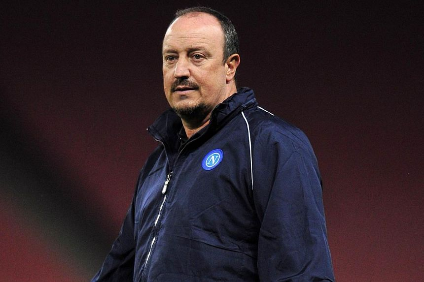 SSC Napoli's Spanish coach Rafael Benitez takes part in a training session at the Emirates Stadium, North London, on Sept 30, 2013 on the eve of the UEFA Champions League Group F football match between Arsenal and SSC Napoli. Napoli manager Rafael Be