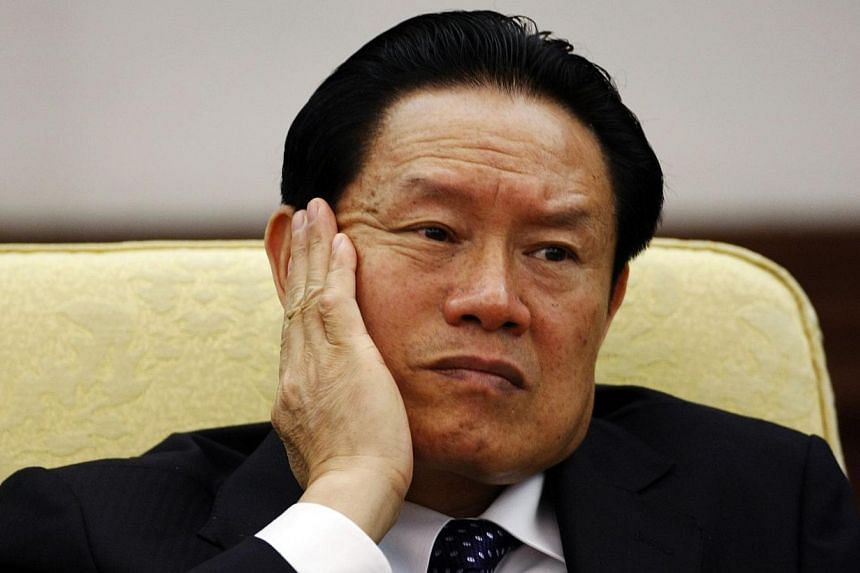 China's then Public Security Minister Zhou Yongkang attending the Hebei delegation discussion sessions at the 17th National Congress of the Communist Party of China at the Great Hall of the People, in Beijing on October 16, 2007. -- FILE PHOTO: REUTE