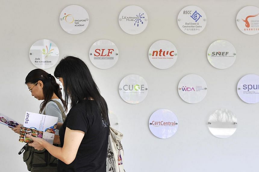 Jobseekers have a new one-stop centre - the new Employment and Employability Institute (e2i) building at Jurong East - to get career advice and training.-- ST FILE PHOTO : ASHLEIGH SIM