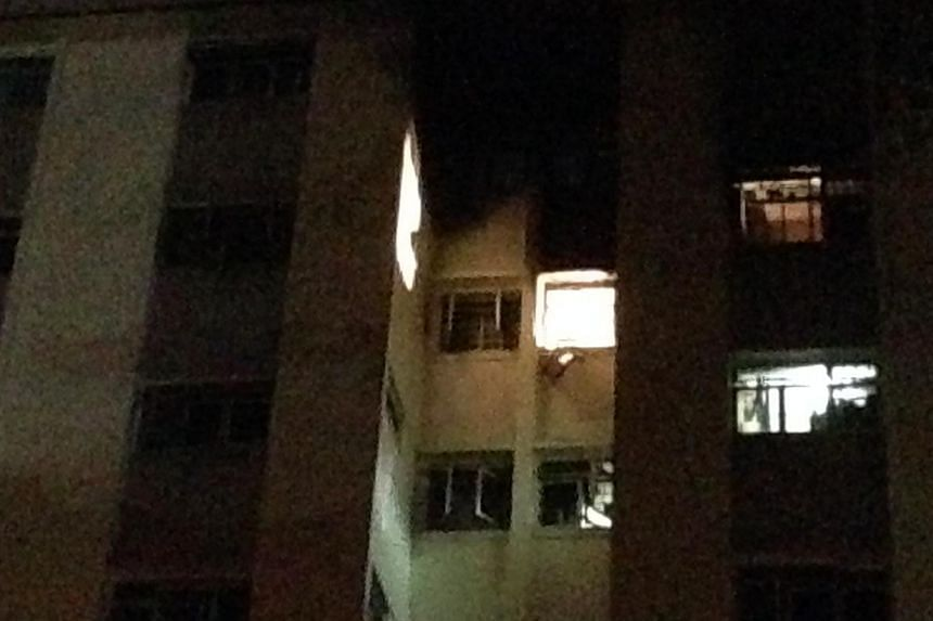 A 92-year-old woman died on Wednesday evening after her one-room flat in Owen Road caught fire. -- ST PHOTO: MUGILAN RAJASEGERAN