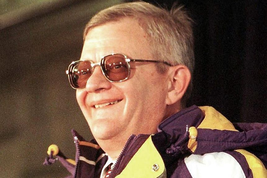 Author Tom Clancy at a press conference on Feb 5, 1998, at the Minneapolis Club in Minneapolis, Minnesota. Clancy, the American author of a string of best-selling spy and military thrillers, has died, the New York Times reported on Wednesday, Oct 2,
