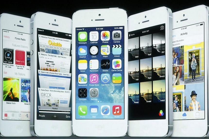 Screenshots of iOS 7.Singapore researchers discovered three security weakness in Apple's iOS operating system which the firm subsequently corrected in its latest version of iOS 7. -- FILE PHOTO: REUTERS