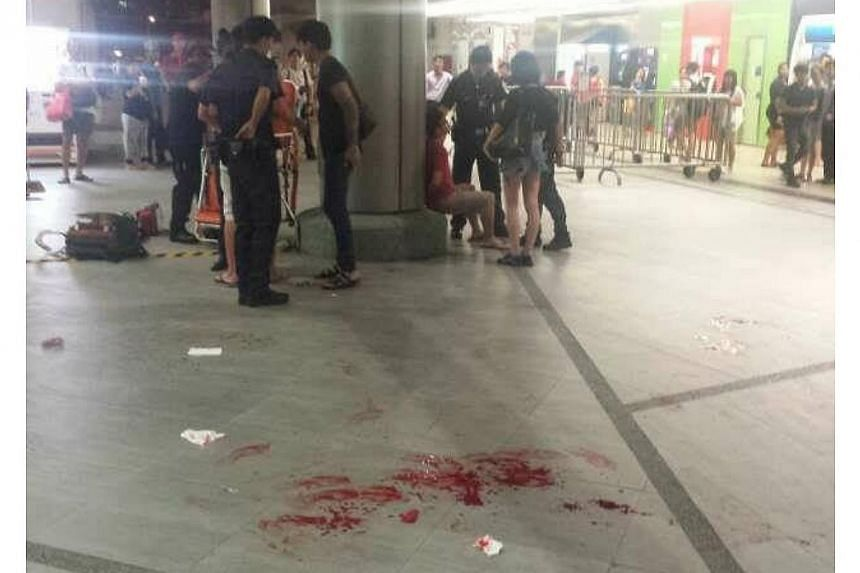 A 19-year old man was stabbed at Lot One Shoppers' Mall on Tuesday night.-- PHOTO: COURTESY OF FREDERICK SEE