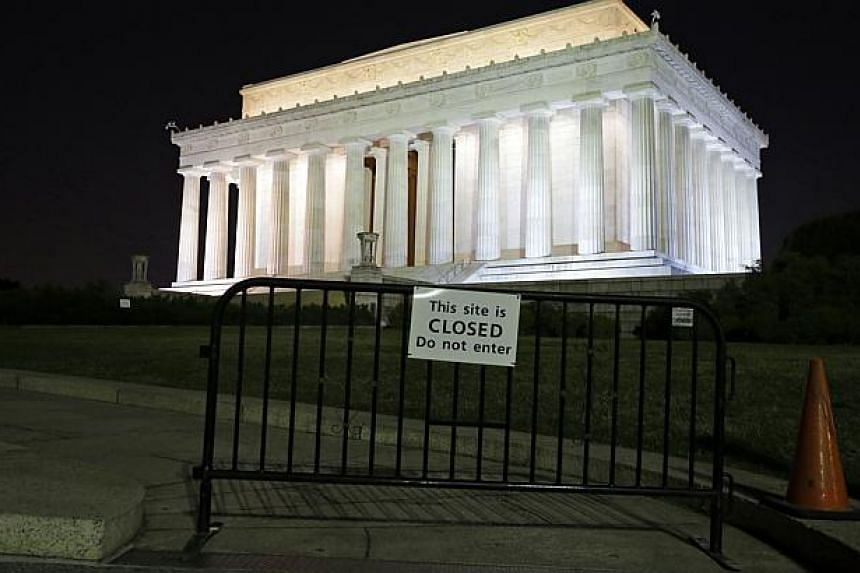 The Lincoln Memorial, and most of the federal government, is closed on Tuesday, Oct 1, 2013, in Washington. The museums that draw millions of visitors to the National Mall closed their doors Tuesday, memorials were barricaded and trash will go uncoll