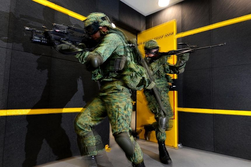 Preview of the new SAF Multi-Mission Range Complex (MMRC), which is a first of its kind three-storey indoor live firing range located at Pasir Laba. Singapore's soldiers will now spend a lot more time sharpening their marksmanship at the Republic's l