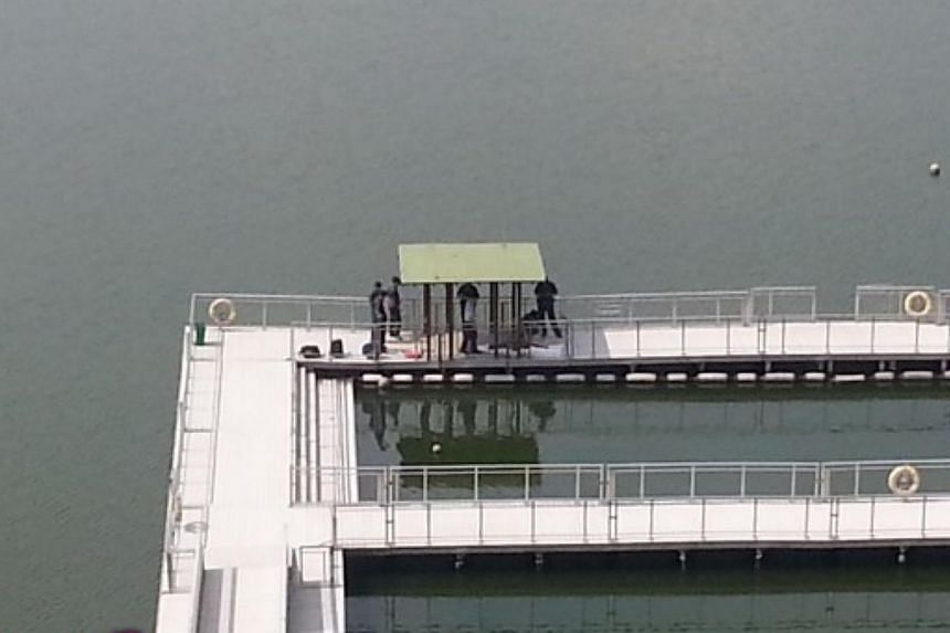 The body of a woman was found at Pandan Reservoir at about 9am on Friday morning, the police said. -- PHOTO: STOMP