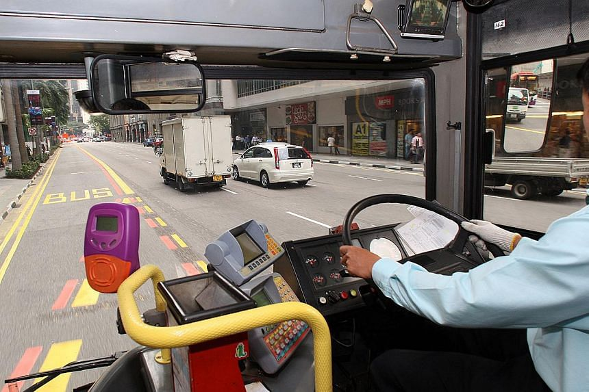 The Land Transport Authority (LTA) will expand two measures that give buses more priority on the roads. -- ST FILE PHOTO:ALBERT SIM