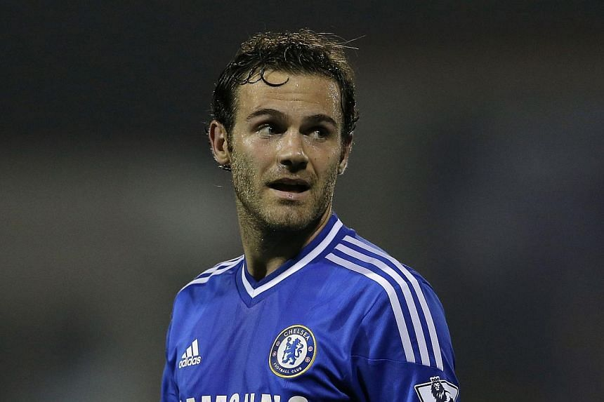 Chelsea's Juan Mata reacts during their game against Swindon Town in their English League Cup match at the County Ground in Swindon on Sept 24, 2013. Mata has been recalled to Spain's23-man squad for the World Cup qualifiers against Belarus and