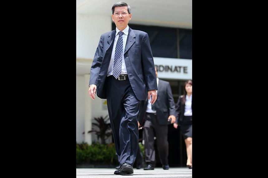 Peter Lim Sin Pang, the former SCDF chief, will be subjected to electronic monitoring while under home detention. -- PHOTO: GARY GOH