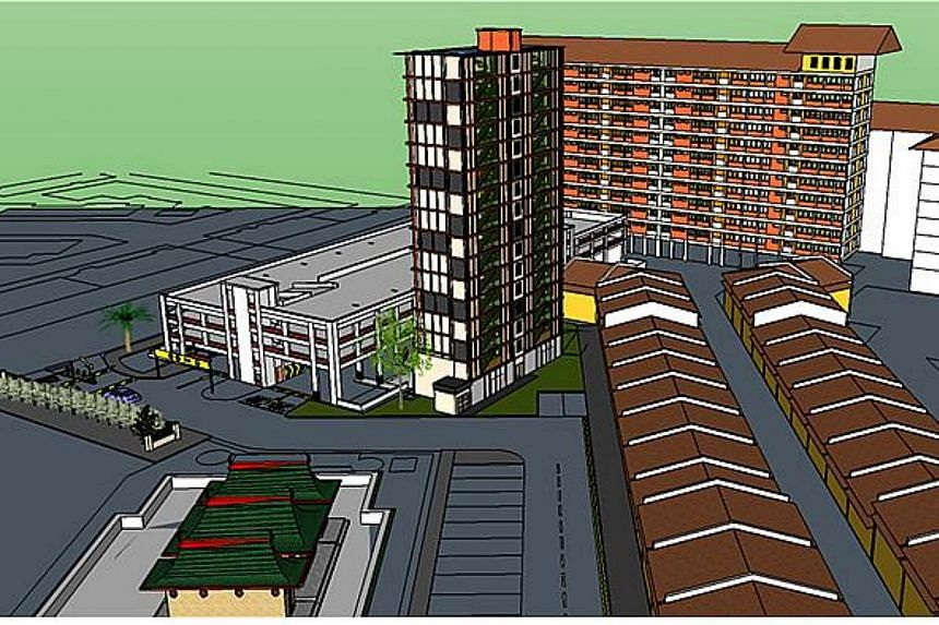Artist's impression of BJ15 (beside Block 259A Bangkit Road). -- PHOTO: MINISTRY OF NATIONAL DEVELOPMENT