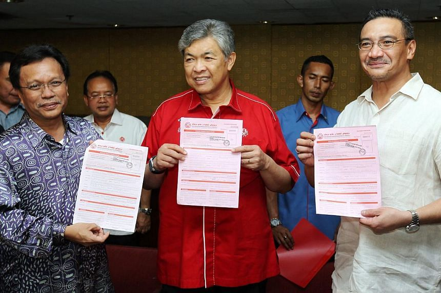 Umno's three incumbent vice-presidents have gone around the country together during campaigning for the coming party elections. --  PHOTO: THE STAR/ASIA NEWS NETWORK