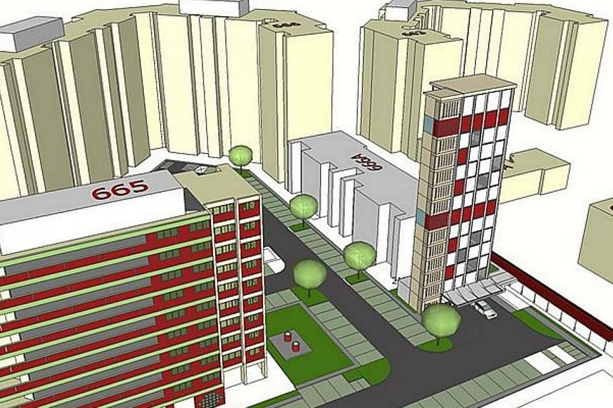 Artist's impression of Y39 (beside Block 666A Yishun Avenue 4). -- PHOTO: MINISTRY OF NATIONAL DEVELOPMENT