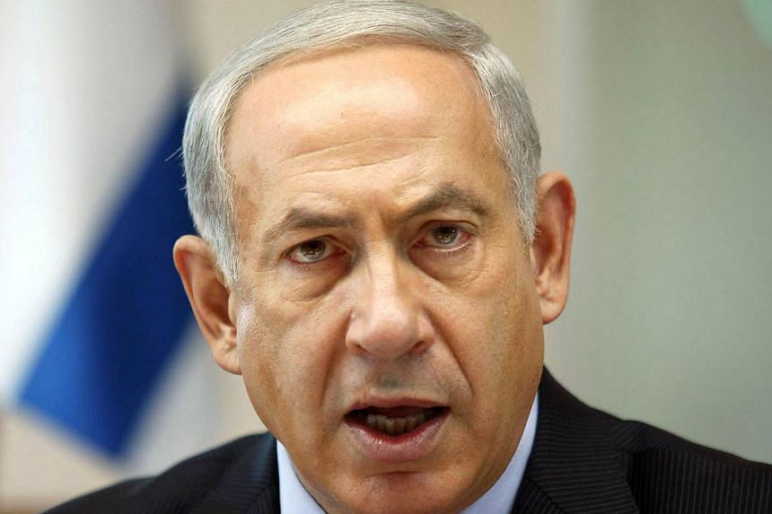 "Israeli Prime Minister Benjamin Netanyahu speaks at the weekly cabinet meeting at his Jerusalem office on Sunday, Oct. 6, 2013.    The Palestinians must ""recognise Israel as the state of the Jewish people"" in order to achieve real peac"