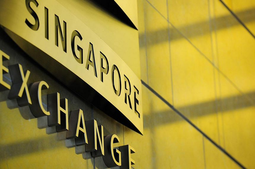 The Singapore Exchange Ltd. logo is displayed in the lobby of SGX Centre 1 in Singapore, on Wednesday, Oct 27, 2010.Shares in Blumont Group and Asiasons Capital plummeted on Monday morning after the Singapore Exchange (SGX) lifted their trading