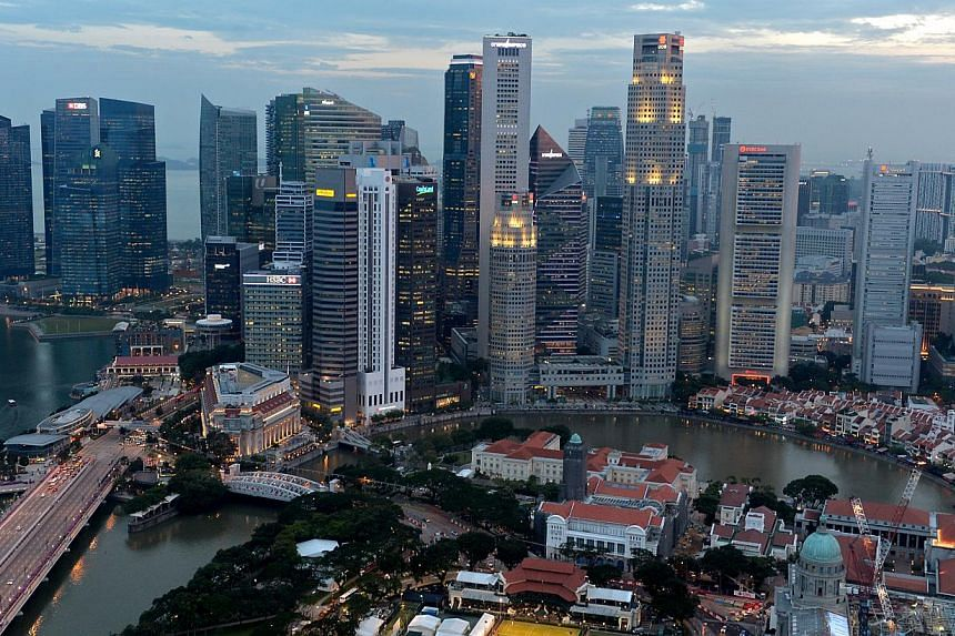 The Singapore skyline as seen from Swissotel the Stamford at dusk on Sept 16, 2013. Singapore'sCentral Provident Fund (CPF) scheme has been named one of the top 10 pension systems in the world, among the likes of countries such as Denmark and S