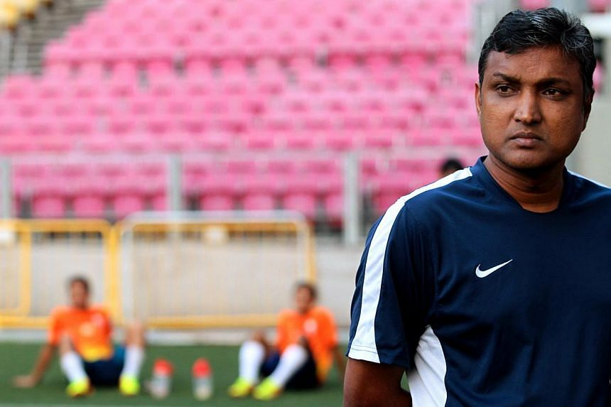 V. Sundramoorthy has quit as LionsXII coach after two seasons in charge of the Malaysian Super League (MSL) outfit. -- TNP FILE PHOTO:GAVIN FOO